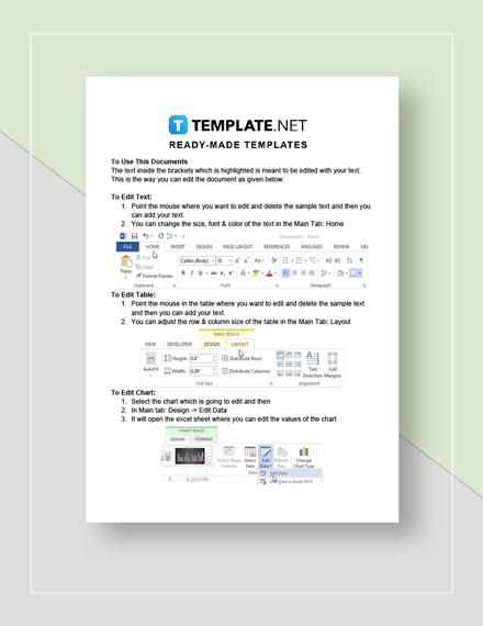 Event run sheet Instructions