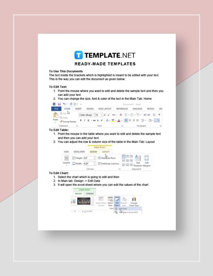 log sheet Instructions
