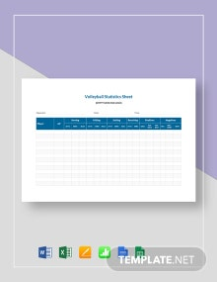 Volleyball Stat Sheet Template
