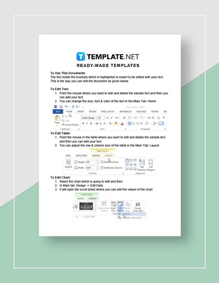 Tracking sheet Instructions