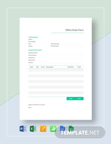 Office Order Template