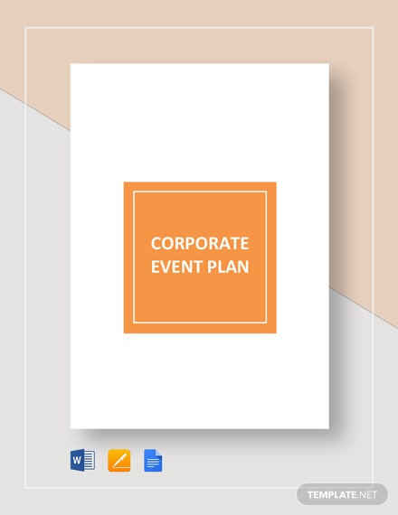 Corporate Event Plan Template