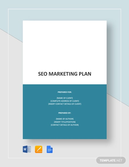 SEO Marketing Plan Template