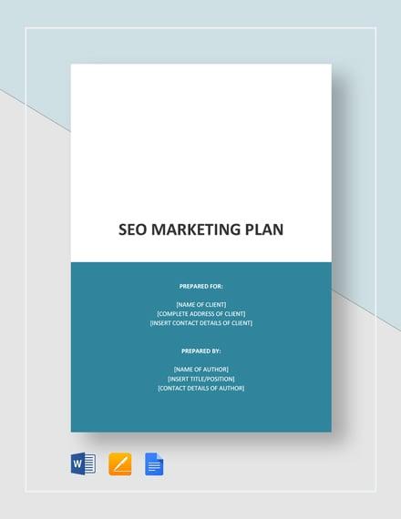 SEO Marketing Plan Template