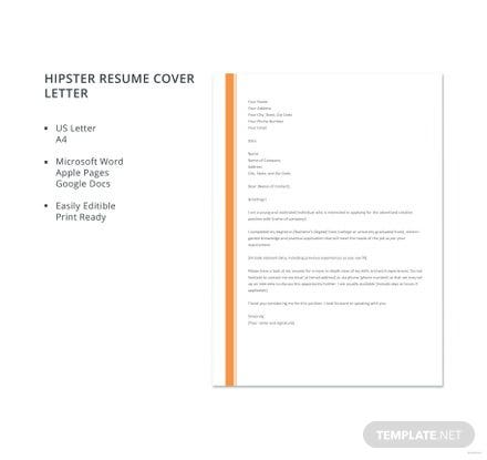 Hipster-Resume-Cover-Letter-Template-440x415 Application Letter For Accountant Fresher on letter of recommendation for accountant, cv for accountant, cover page for accountant, employment application for accountant, birthday for accountant, resignation letter for accountant, thank you note for accountant,