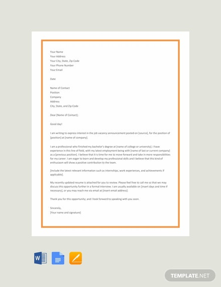 66 Free Cover Letter Templates Download Ready Made Template Net