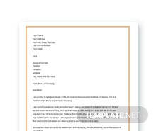 Free Latest Resume Cover Letter Template