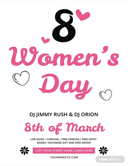 Free Women's Day Flyer Template