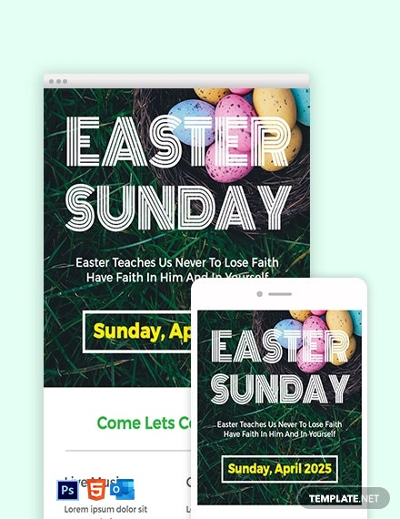 Free Easter Sunday Email Newsletter Template