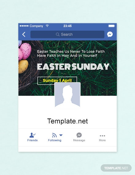 Free Easter Sunday Facebook App Cover Template