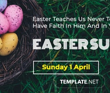 Easter Sunday Facebook App Cover Template