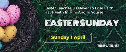 Easter Sunday Facebook Cover Template
