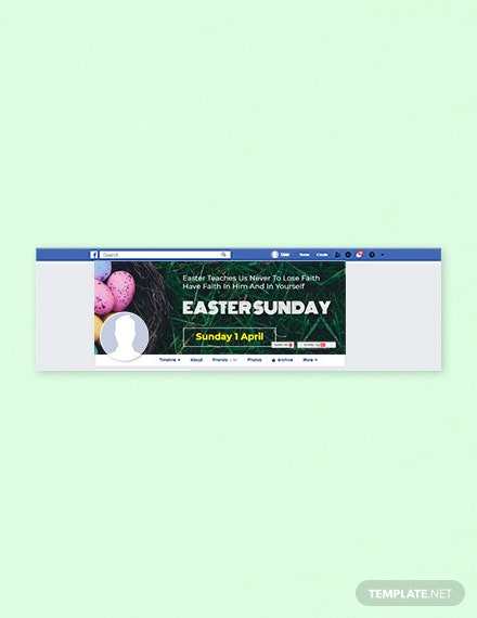 Free Easter Sunday Facebook Cover Template