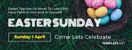 Easter Sunday Facebook Event Cover Template