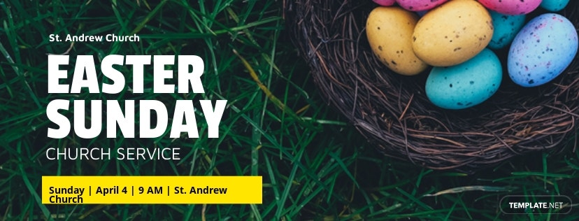 Free Easter Sunday Facebook Event Cover Template