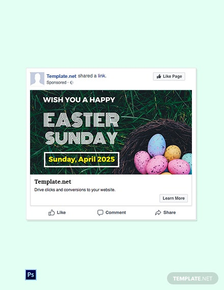 Free Easter Sunday Facebook Post Template