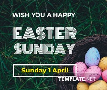 Easter Sunday Facebook Post Template