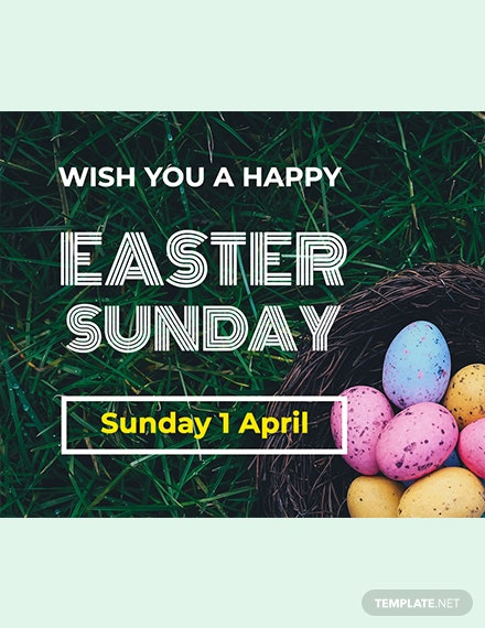 free easter sunday facebook post template download 536 social