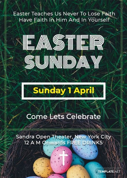 Free Easter Sunday Flyer Template