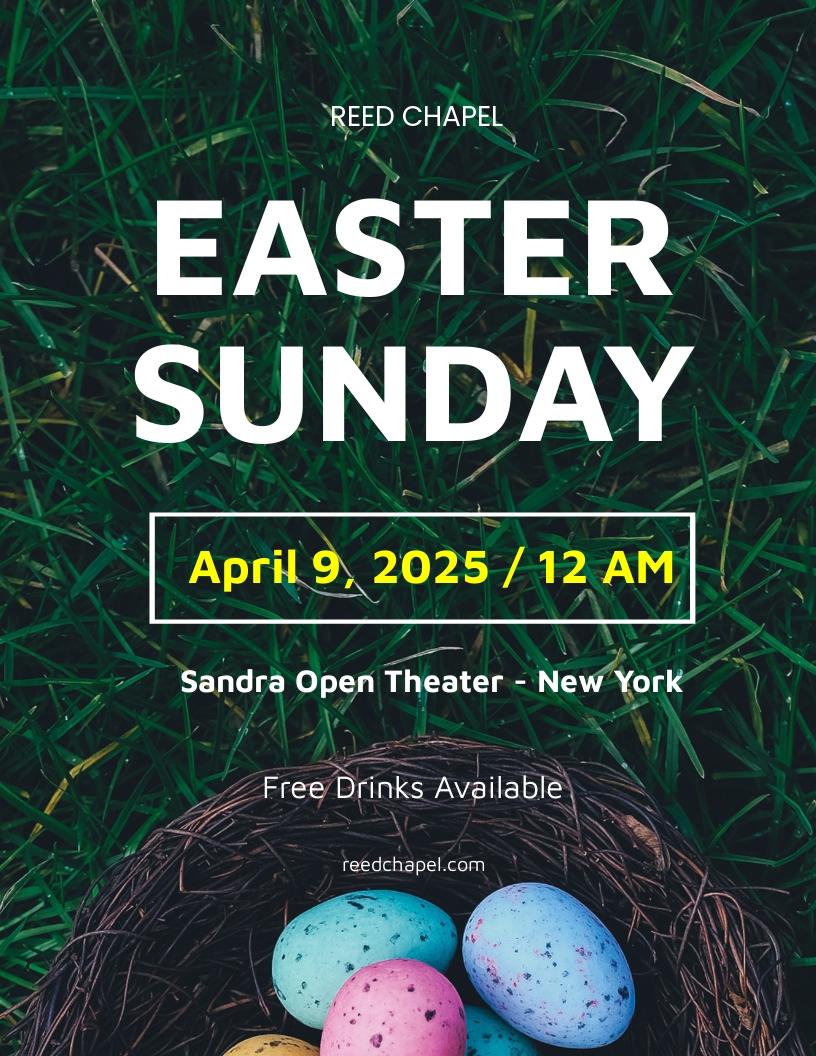 Easter Sunday Flyer Template.jpe