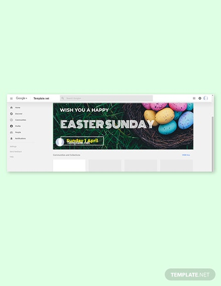 Free Easter Sunday Google Plus Cover Template