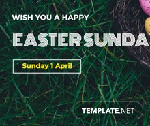 Easter Sunday Google Plus Cover Template