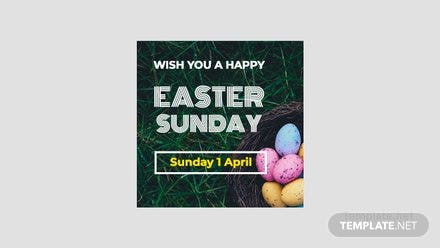 Easter Sunday Google Plus Header Photo Template