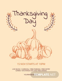 Free Minimal Thanksgiving Flyer Template