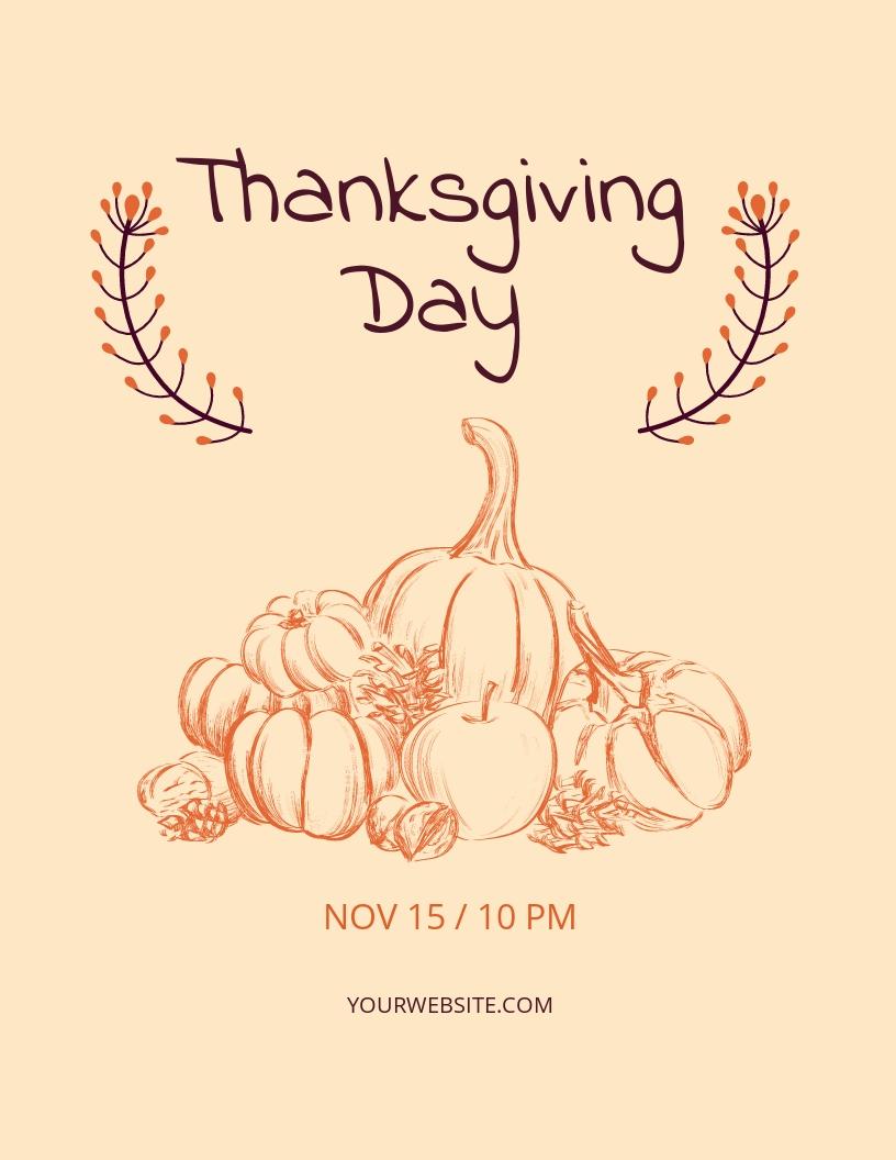 Minimal Thanksgiving Flyer Template.jpe