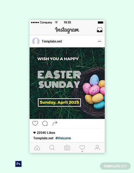 Free Easter Sunday Instagram Post Template