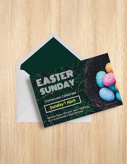 Free Easter Sunday Invitation Template