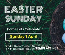 Free Easter Sunday Invitation Template