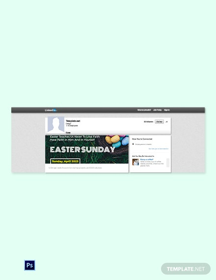 Free Easter Sunday LinkedIn Blog Post Template