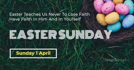 Free Easter Sunday LinkedIn Blog Post Template