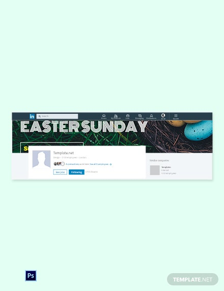 Free Easter Sunday LinkedIn Company Cover Template