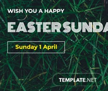 Easter Sunday LinkedIn Company Cover Template