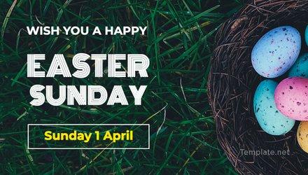 Free Easter Sunday LinkedIn Post Template
