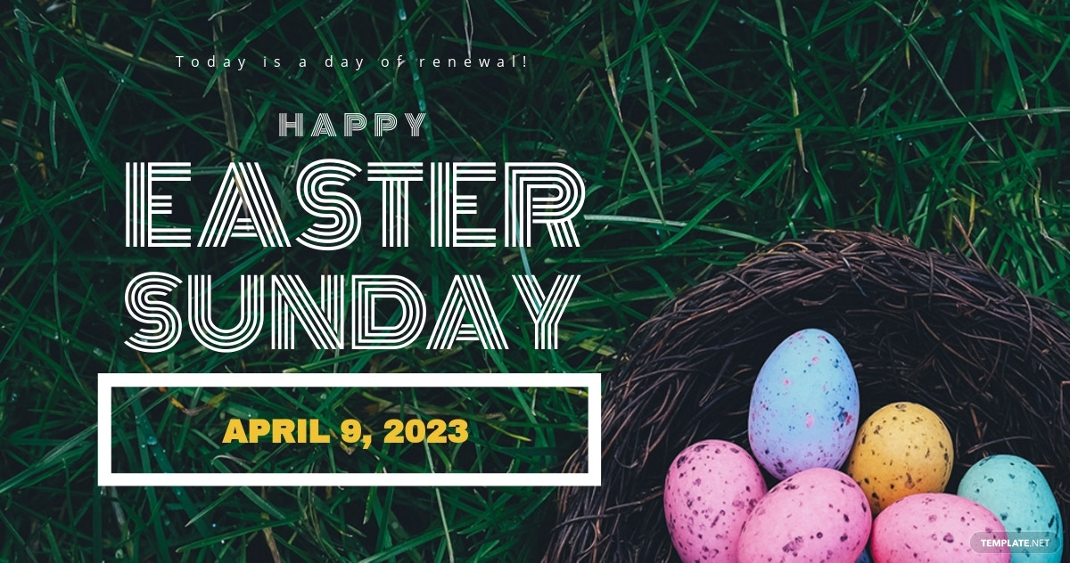 Easter Sunday LinkedIn Post Template