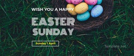 Free Easter Sunday LinkedIn Profile Banner Template
