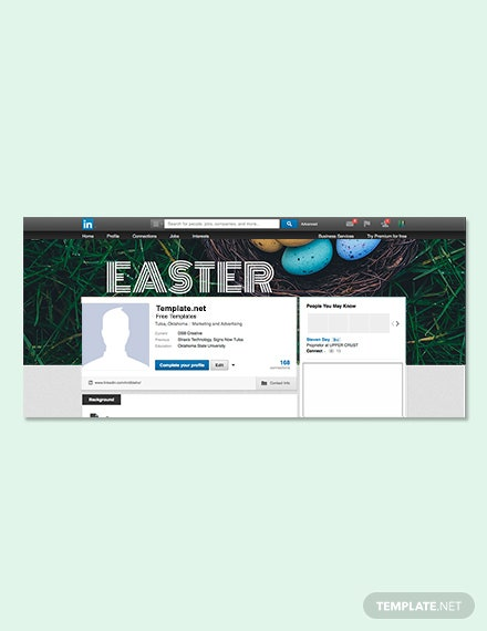 Free Easter Sunday LinkedIn Profile Banner Template
