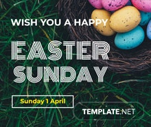 Easter Sunday LinkedIn Profile Banner Template