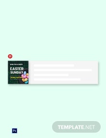 Free Easter Sunday Pinterest Board Cover Template