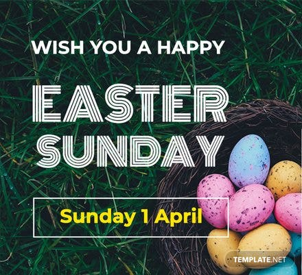 Easter Sunday Pinterest Board Cover Template