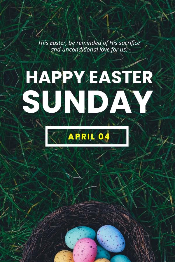 Easter Sunday Pinterest Pin Template.jpe