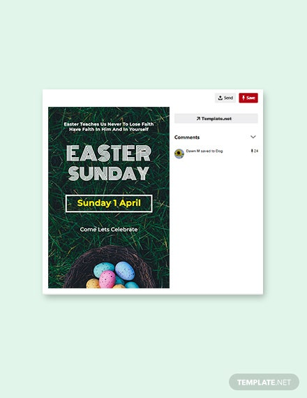 Free Easter Sunday Pinterest Pin Template