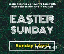 Easter Sunday Pinterest Pin Template