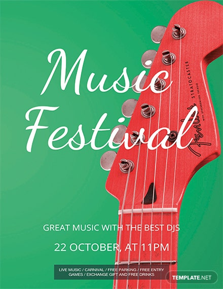music festival flyer template 1x