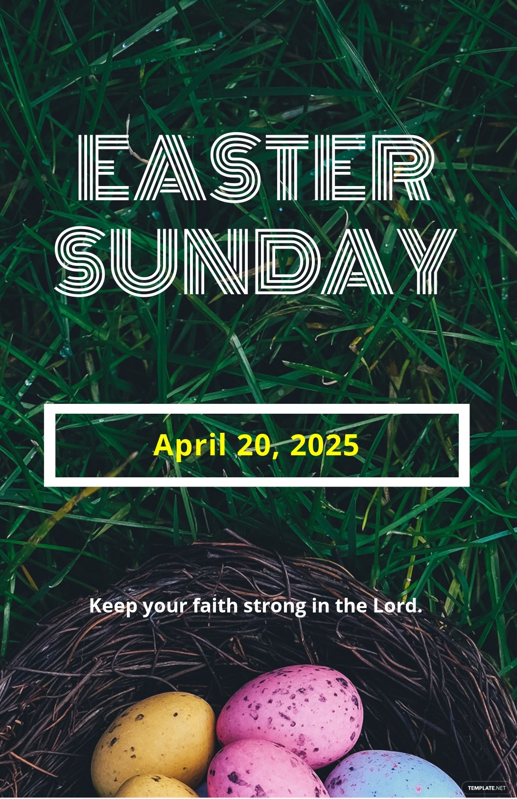Easter Sunday A4 Poster Template