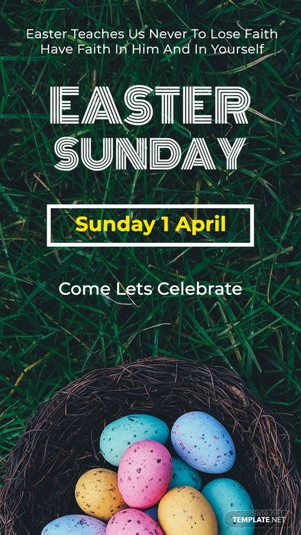 Easter Sunday Snapchat Geofilter Template