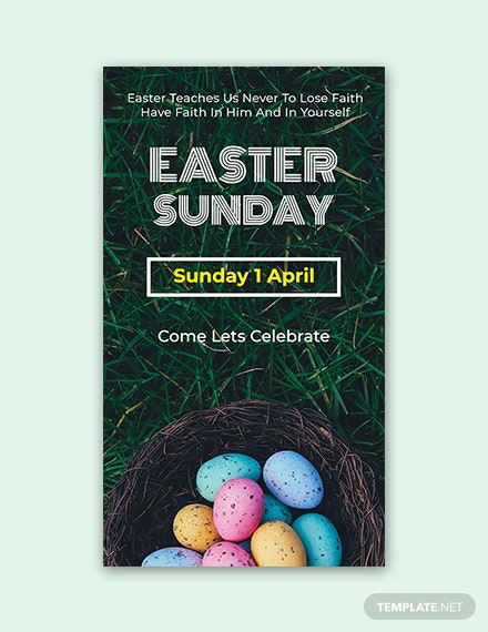 Free Easter Sunday Snapchat Geofilter Template